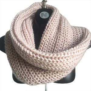 Call It Spring Pink Cable Knit Snood Scarf